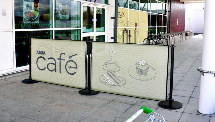 cafe barriers. Black Bedroom Furniture Sets. Home Design Ideas